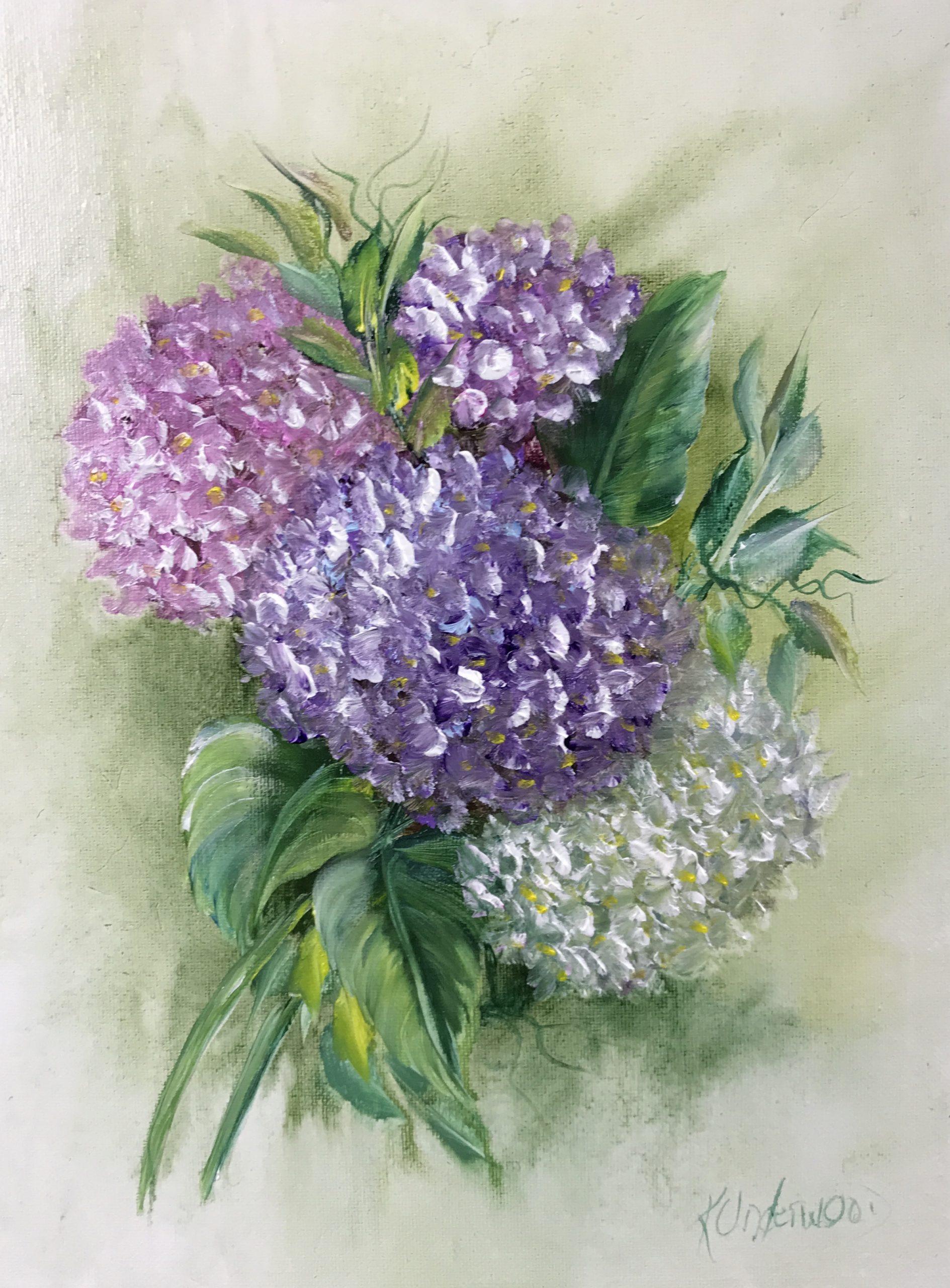 Vivid Hydrangea (Acrylic)