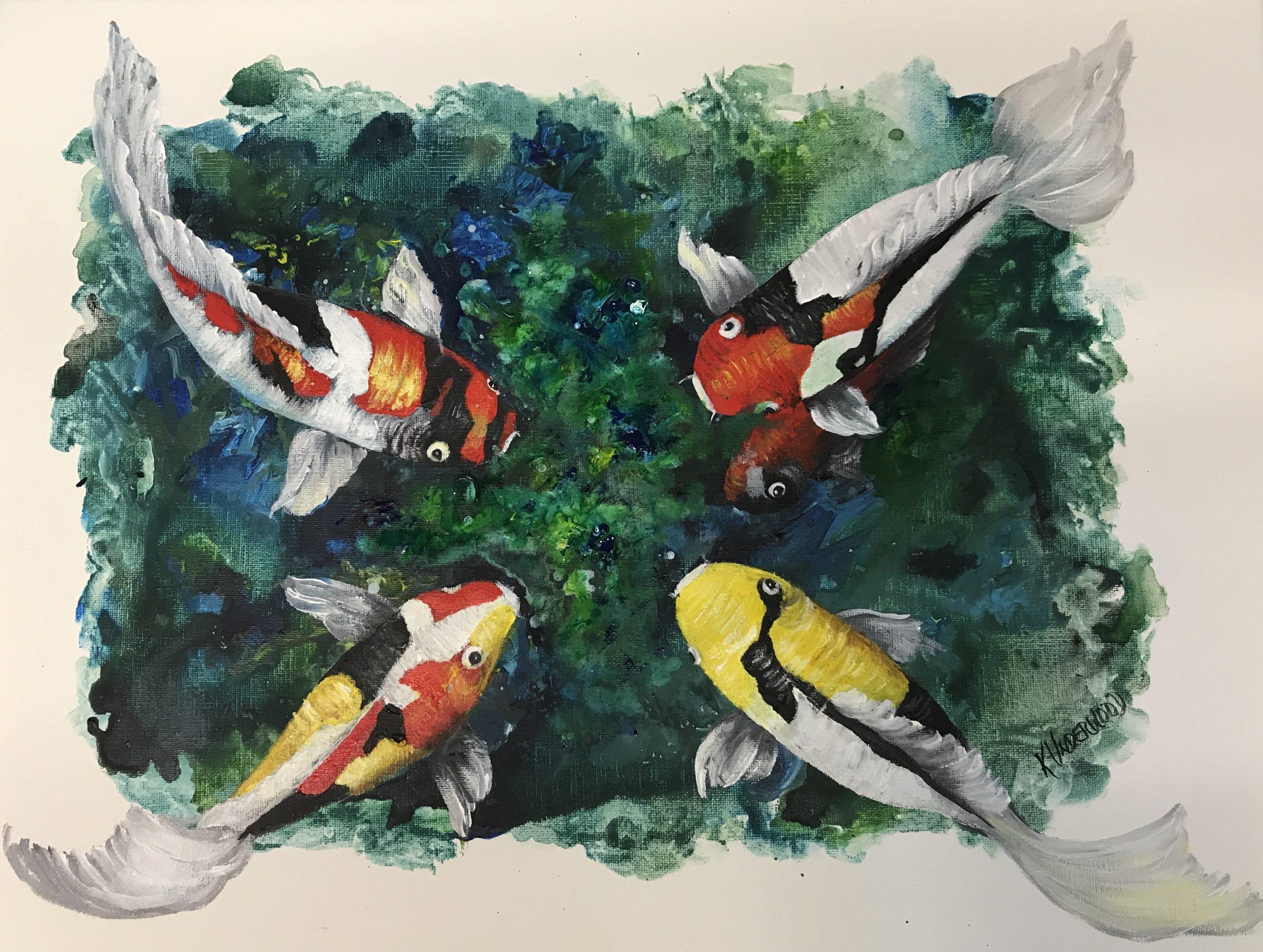 Abstract Koi Fish (Acrylic)