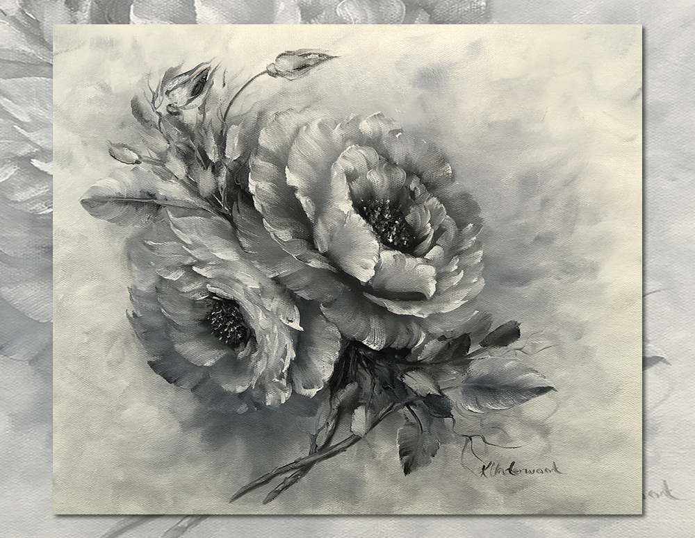 Black and White Roses (Oils)