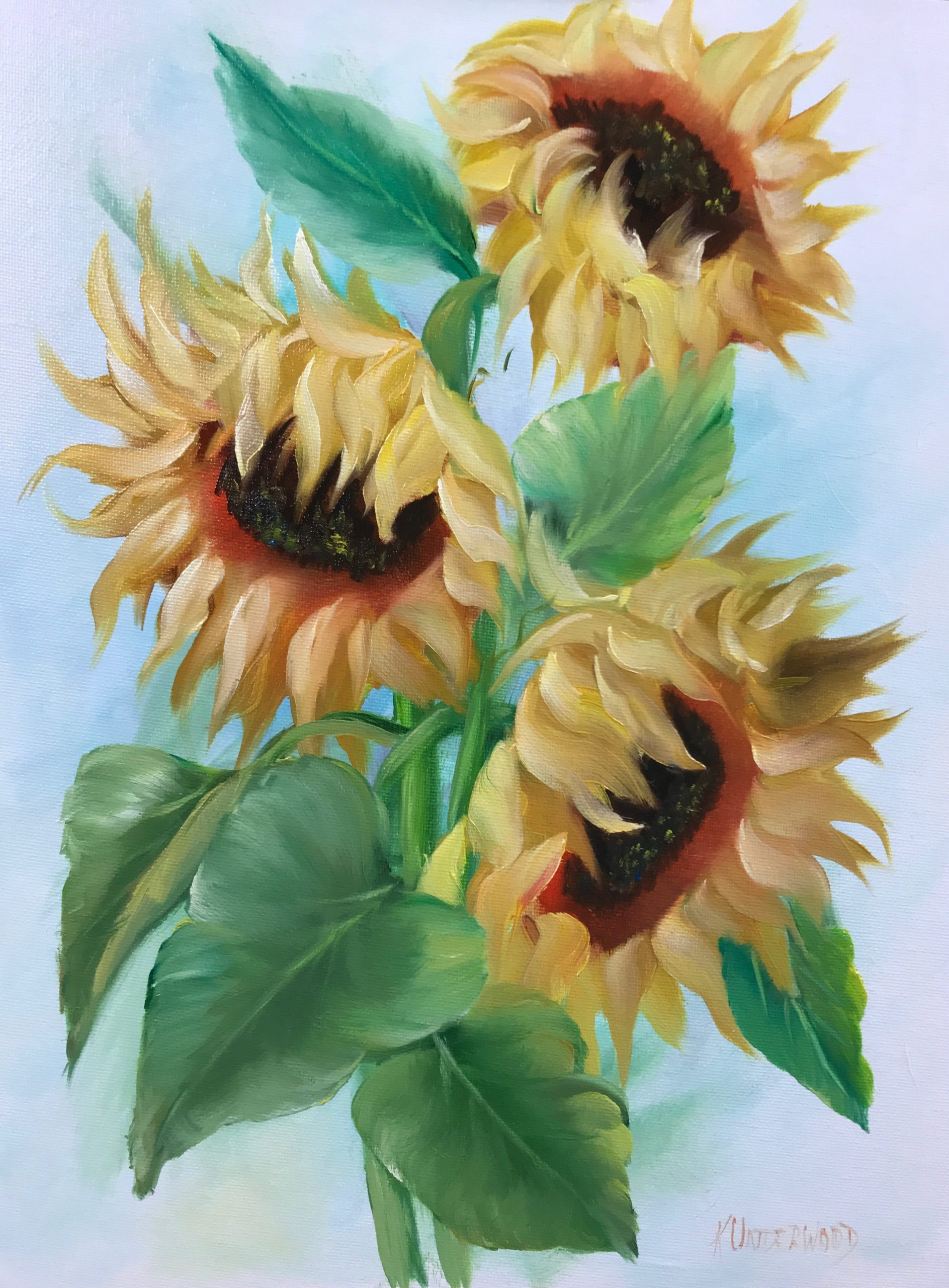Sunny Day Sunflowers (Oils)