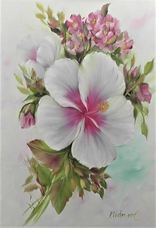 White Hibiscus Bouquet (Oils)