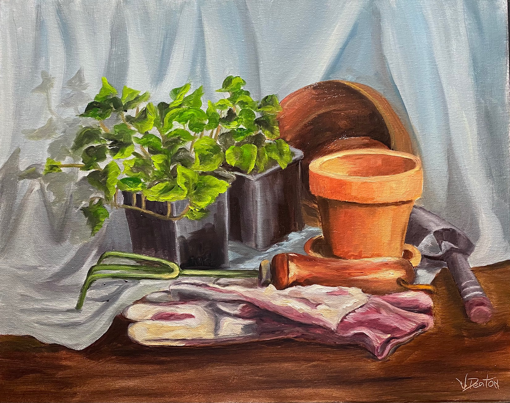 Potting Ivy Oil Painting Tutorial